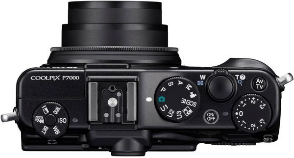 Nikon CoolPix P7000 Digital Camera - Top