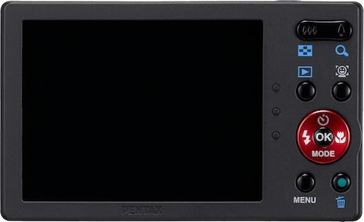 Pentax Optio RS1000 Digital Camera - Back