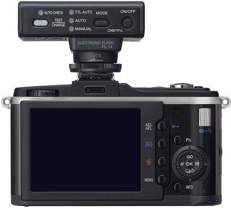 Olympus PEN E-P2 Black Digital Camera Kit - Back