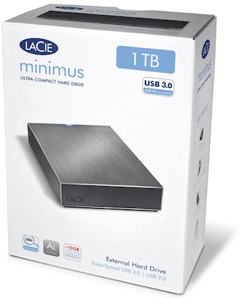 LaCie Minimus USB 3.0 1TB Desktop Hard Drive - Packaging