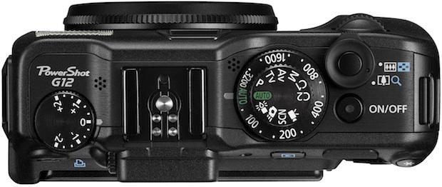 Canon PowerShot G12 Digital Camera - Top