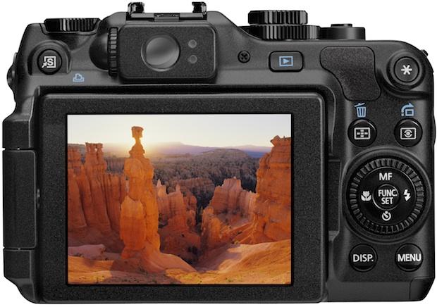 Canon PowerShot G12 Digital Camera - Back