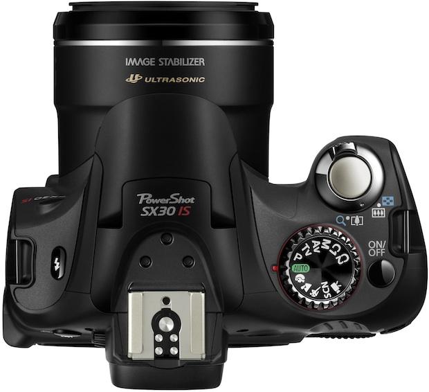 Canon PowerShot SX30 IS Digital Camera - Top
