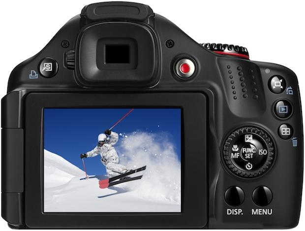 Canon PowerShot SX30 IS Digital Camera - Back