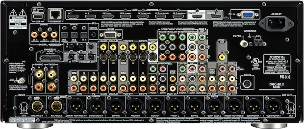 Integra DHC-80.2 THX Ultra 2 Plus Surround Preamplifier - Back