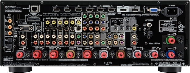 Integra DTR-40.2 THX-Select 2 Plus A/V Receiver - Back
