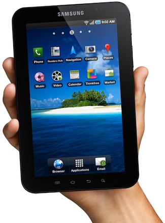 Samsung Galaxy Tab 7-inch Tablet in Hand