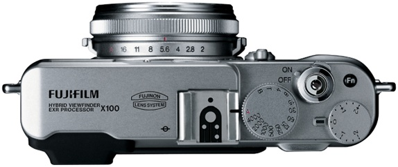 FujiFilm FinePix X100 Digital Camera - Top