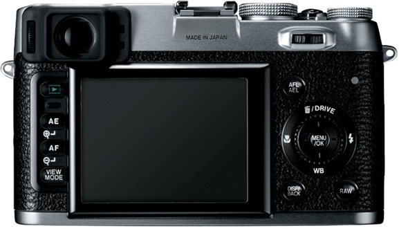 FujiFilm FinePix X100 Digital Camera - Back