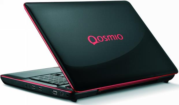 Toshiba Qosmio X500 Series Laptop - Back