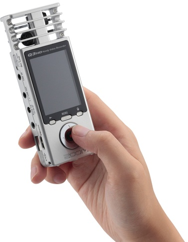 Zoom Q3HD Handy Video Recorder in hand