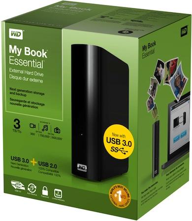 WD My Book Essential USB 3.0 3TB External Hard Drive