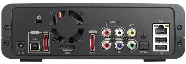 QNAP NMP-1000P Network Media Player - Back