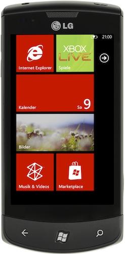 LG Optimus 7 Windows Smartphone - Front