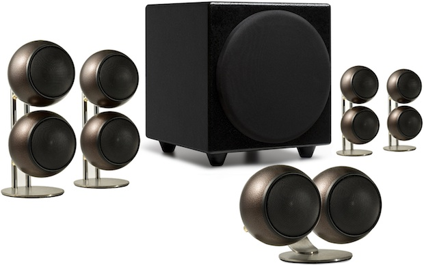 Orb Audio 5.1 Speaker System in Hammered Earth Finish
