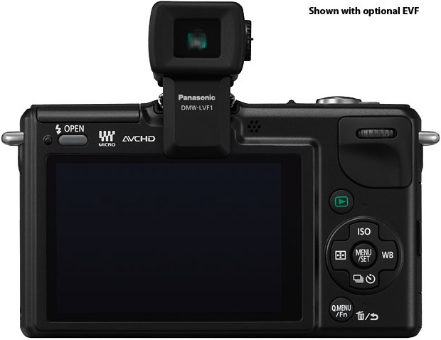 Panasonic DMC-GF2 Lumix DSLM Digital Camera - Back