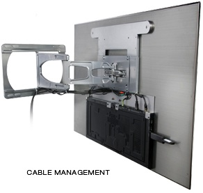 Peerless SUAC9000 Ultra Slim Articulating Wall Mount cable management