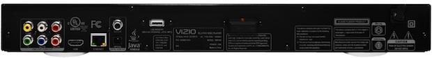 VIZIO VBR333 3D Blu-ray Player - Back