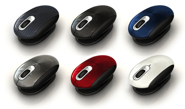 Smartfish Whirl Mini Notebook Laser Mouse - Colors