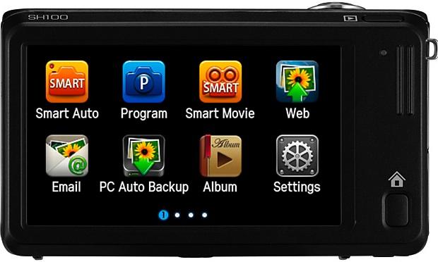 Samsung SH100 Wi-Fi Digital Camera - Back