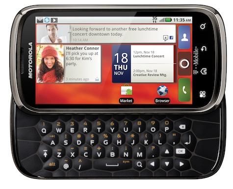 Motorola CLIQ 2 Smartphone - Open