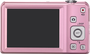 Casio EX-ZS10 Exilim Digital Camera - Pink - Back