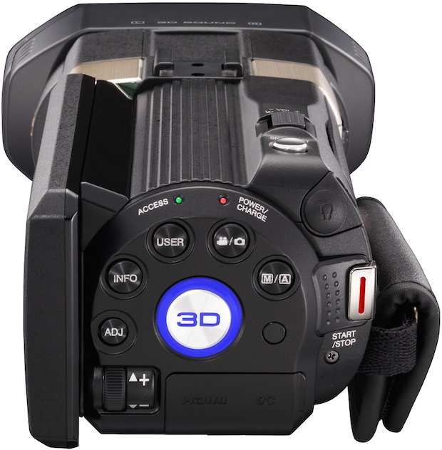 JVC GZ-TD1 Full HD 3D Camcorder - Back
