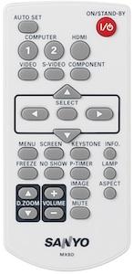Sanyo PLC-WL2503 LCD Projector - Remote