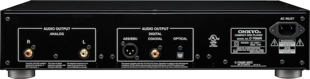 Onkyo C-7000R CD Player - Rear