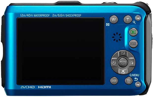Panasonic DMC-TS3 Lumix Rugged Digital Camera - Back - Blue