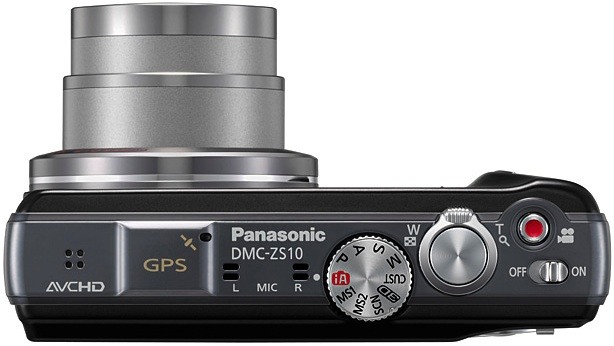 Panasonic DMC-ZS10 Lumix Digital Camera - Top