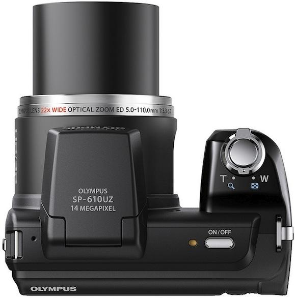 Photo of Olympus SP-610UZ Digital Camera - Top