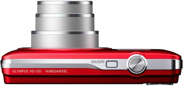 Photo of Red Olympus VG-120 Digital Camera - Top
