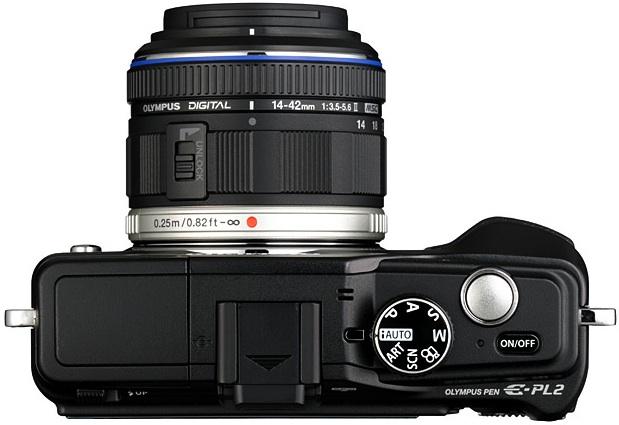 Photo of Olympus PEN E-PL2 Digital Camera - Top