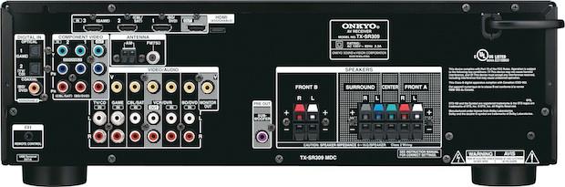 Onkyo TX-SR309 A/V Receiver - Back
