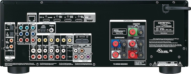 Onkyo TX-NR509 A/V Receiver - Back