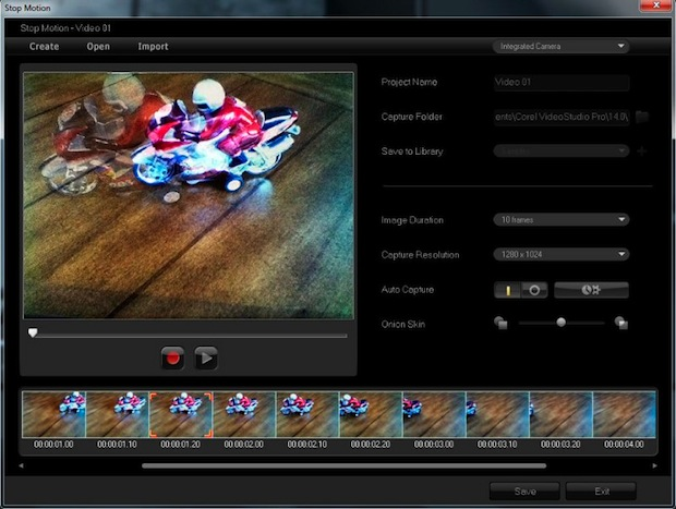 Corel VideoStudio Pro X4 - Screenshot - Stop Motin Animation