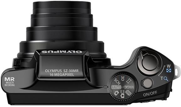 Olympus SZ-30MR Digital Camera - Top