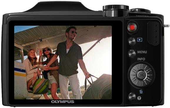 Olympus SZ-30MR Digital Camera - Back