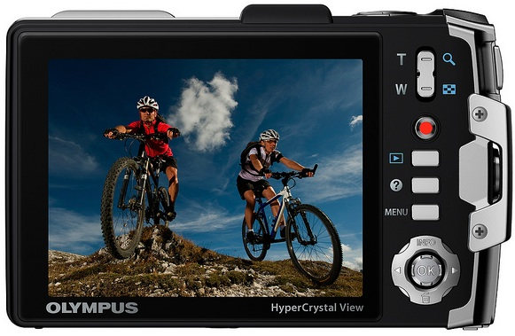 Olympus Tough TG-810 Waterproof Digital Camera - Back