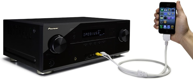 Pioneer VSX-921 A/V Receiver with iPhone