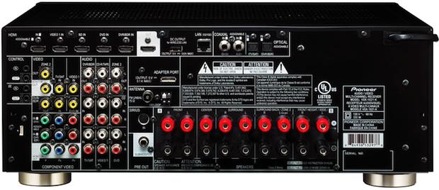 Pioneer VSX-1021 A/V Receiver - Back