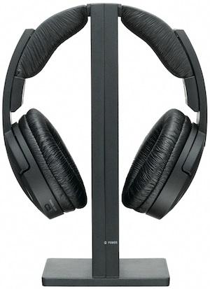 Sony MDR-RF865RK Wireless Headphones in charging dock