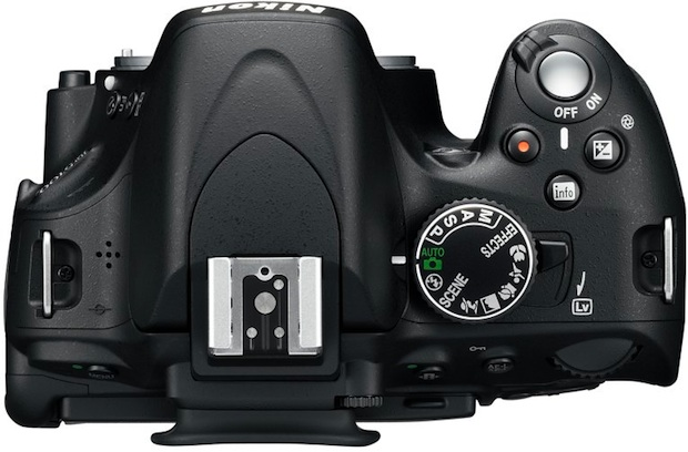 Nikon D5100 Digital SLR Camera - Top