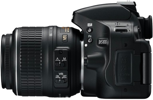 Nikon D5100 Digital SLR Camera - Left