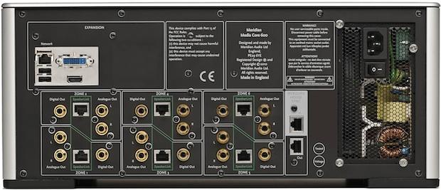 Meridian Audio Core 600 Sooloos Digital Media System - Back